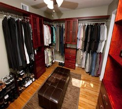 Closet Organizers Cherry Customer Installation