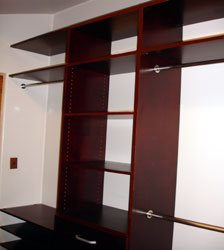 Walk In Closet Organizer with added top shelving