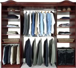 Walk-in Closet Organizers Cherry