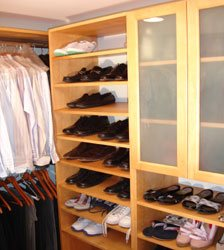 Walk In Closet Organizer Shoe Rack Setup