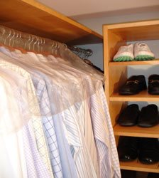 Closet Organizer-Tower and Shelf Setup
