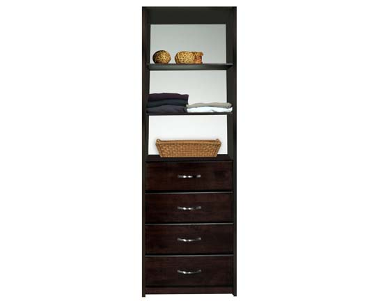 Walk In Closet Organizers Tower Pre Configured #10